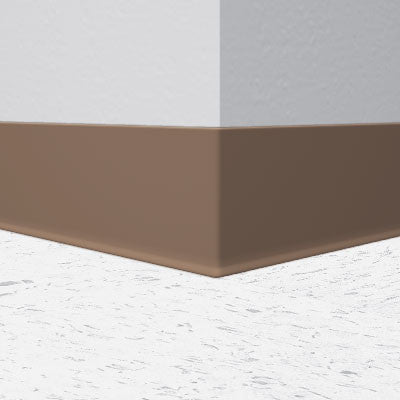 "056 Milk Chocolate 4"" x 1/8"" Vinyl Wall Base"