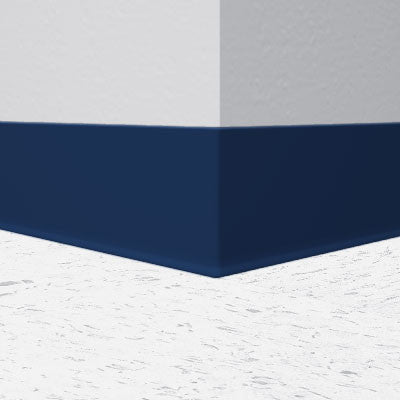 "Flexco Midnight Blue 099 - 6"" Wallflowers Rubber Wall Base"