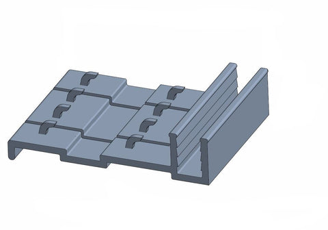 "T Moulding Track 1-1/8"" to 21/64"""