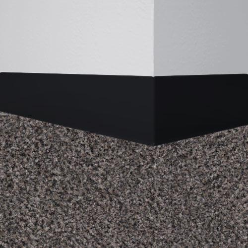 Johnsonite 40 Black Tightlock Rubber Wall Base For Carpet