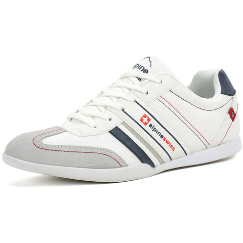 Alpine Swiss Ivan Suede Trim Retro Sneakers 10 US