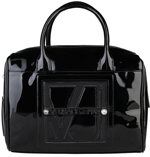 Versace Jeans Patent Leather Grab Bag