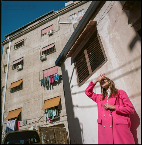 CASUAL PINK coat