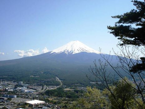 Mt. Fuji, a mountain with mathematical beauty