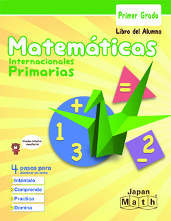 Japan Math Grade 1 Lesson Book - Spanish