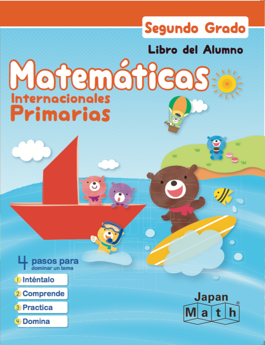 Japan Math Grade 2 Lesson Book - Spanish