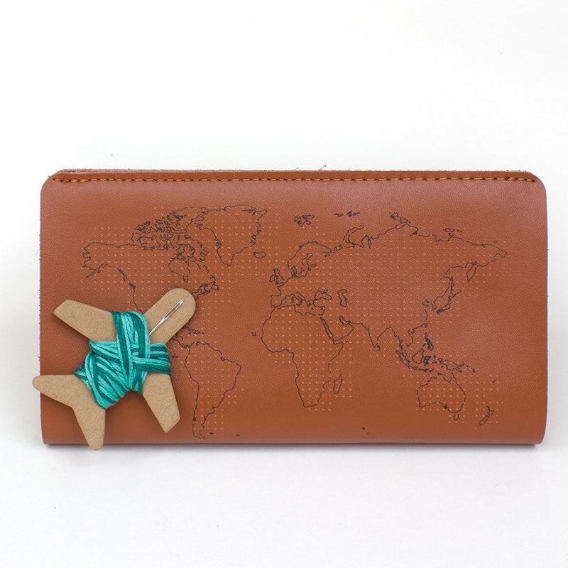Chasing Threads - Stitch Travel Wallet - Brown