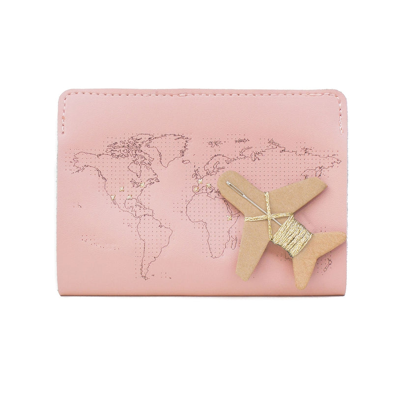 Chasing Threads - Stitch Passport Cover - Pink