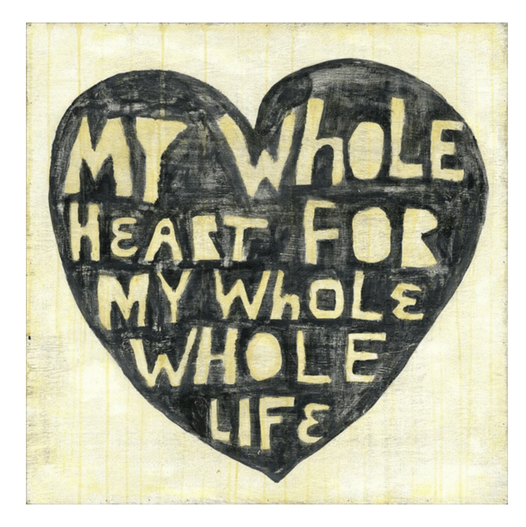 Sugarboo Small Wall Art Print 12X12 - My Whole Heart
