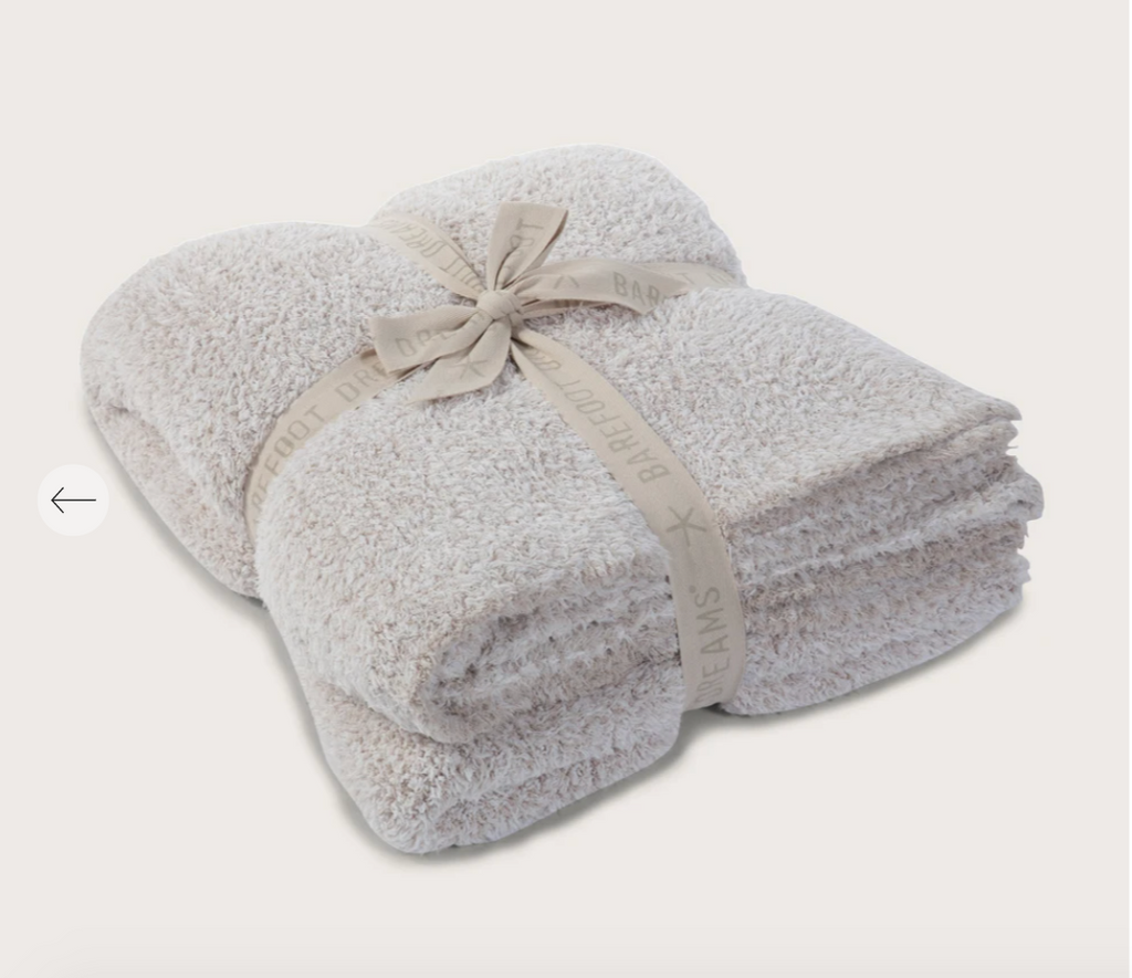 Barefoot Dreams CozyChic Heathered Throw - Stone/White