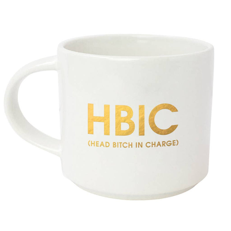 Chez Gagné - HBIC Head Bitch in Charge Gold Foil Coffee Mug