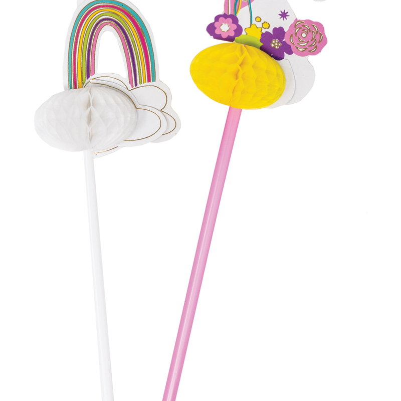 Party Partners - Unicorn and Rainbow Deluxe Straws