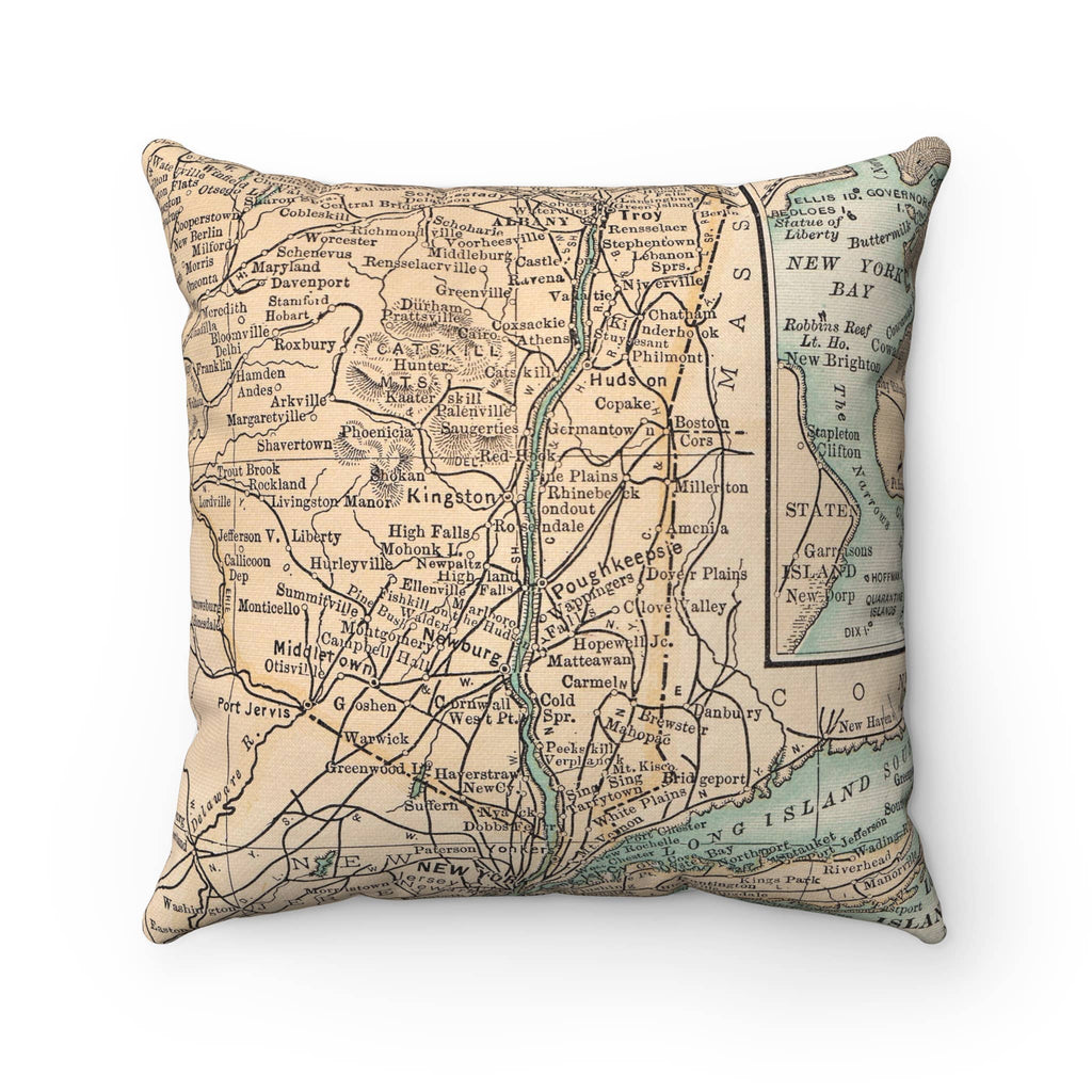 Map Pillow - Hudson Valley New York