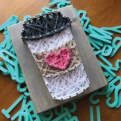 Mini String Art Kit - Coffee