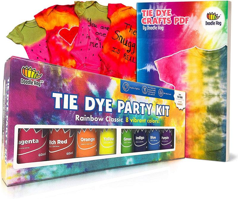 Doodle Hog - Doodlehog Easy Tie Dye Party Kit for Kids, Adults, and Group
