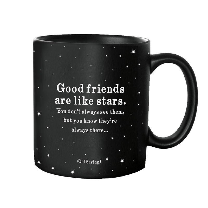 Quotable Mugs - Good Friends Are Stars (Old Saying)