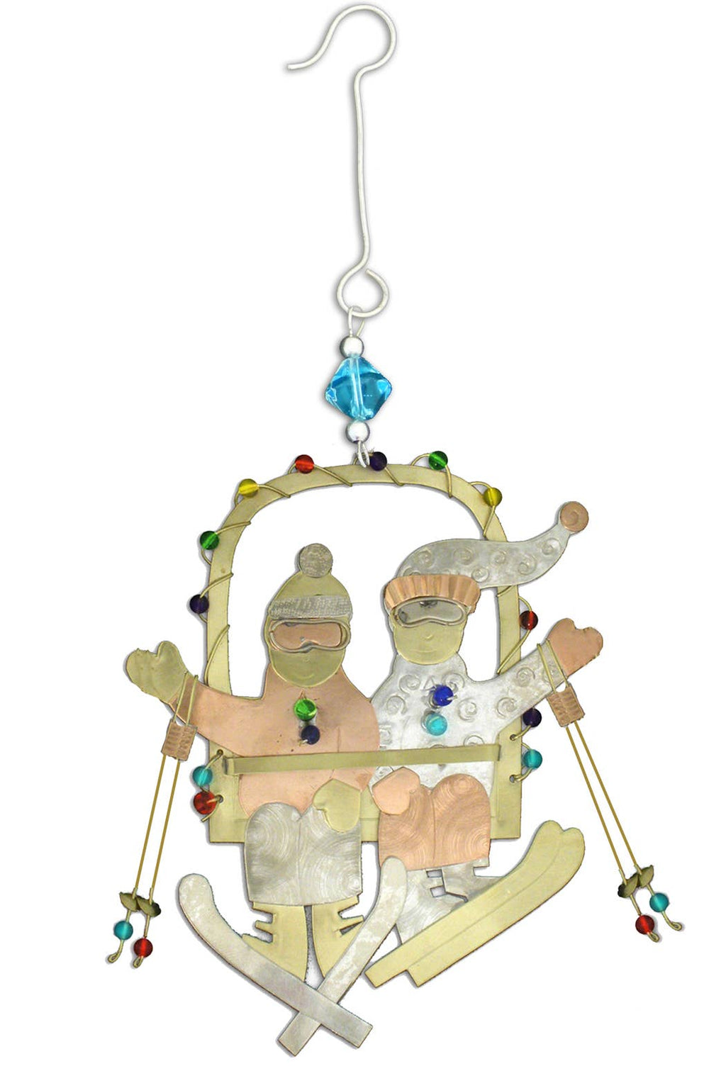 Pilgrim Imports - Skiing Couple - Christmas Ornament