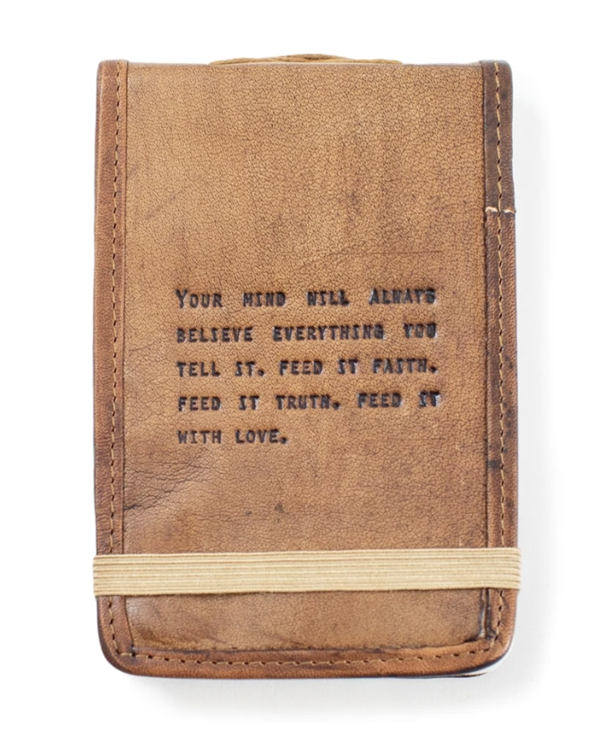 Leather Journal Small - Faith, Truth & Love