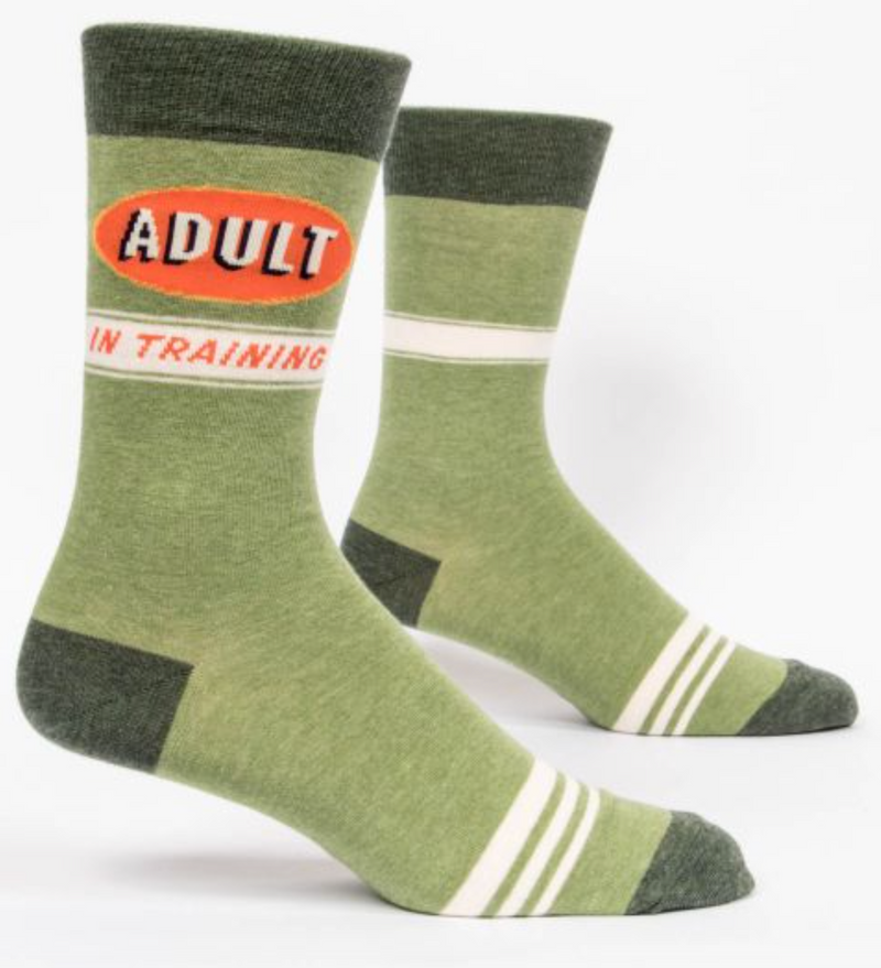 Blue Q Men's Crew Socks Adult in Training