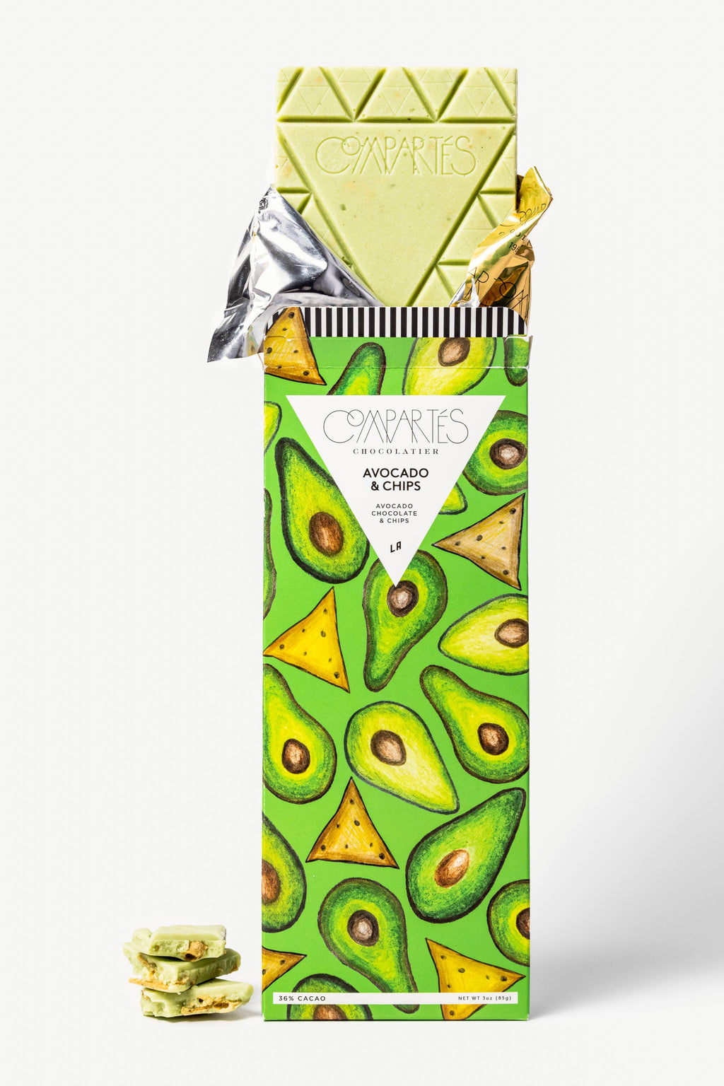 Compartes Chocolate - Avocado & Chips Chocolate Bar