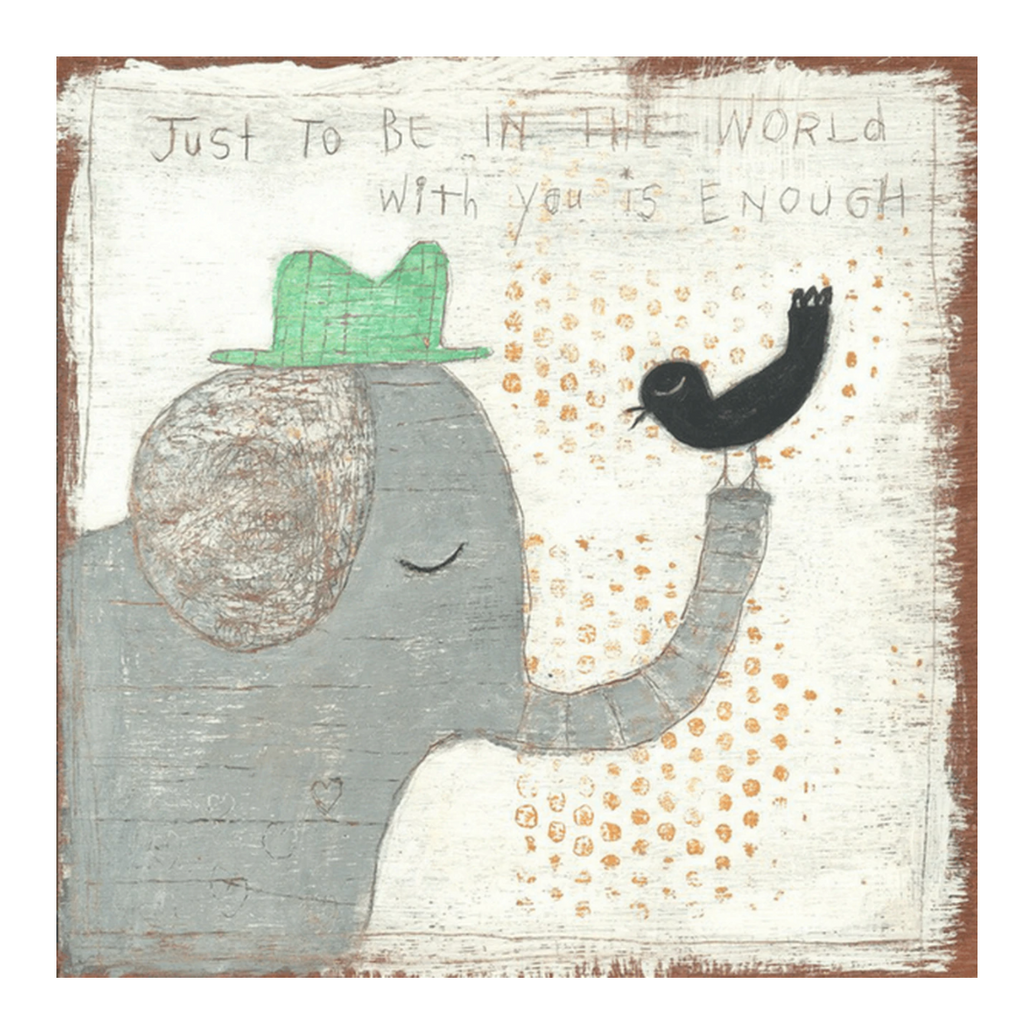 Sugarboo Small Wall Art Print 12X12 - Just To Be In The World