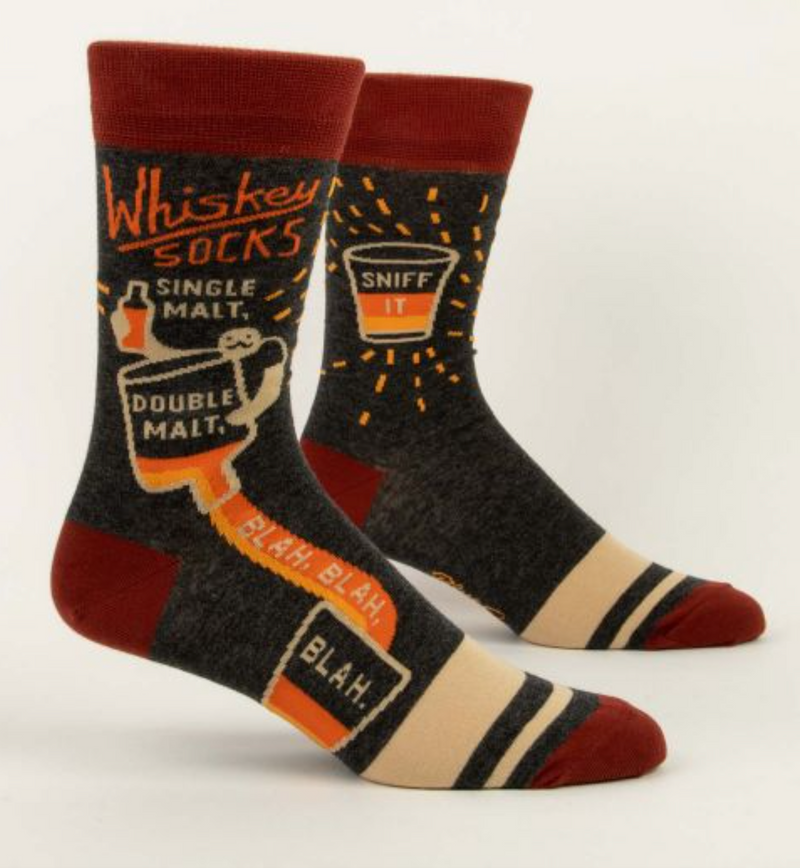 Blue Q Men's Crew Socks Whiskey Socks