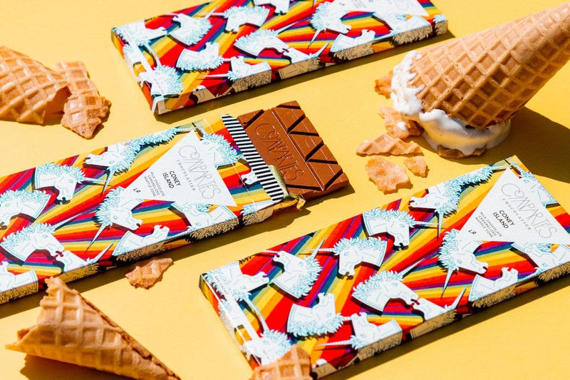 Compartes Chocolate - Coney Island Waffle Cone Chocolate Bar