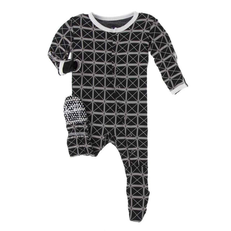 Kickee Pants Zippered Footie - Midnight Infrastructure