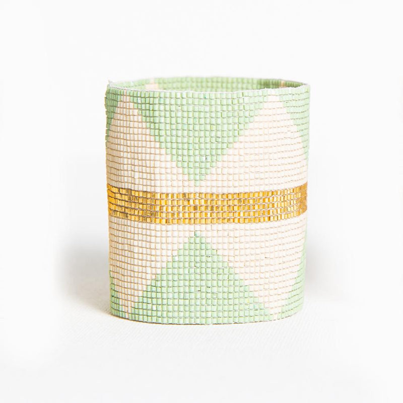 Ink + Alloy Luxe Stretch Bracelet - Mint Ivory Gold
