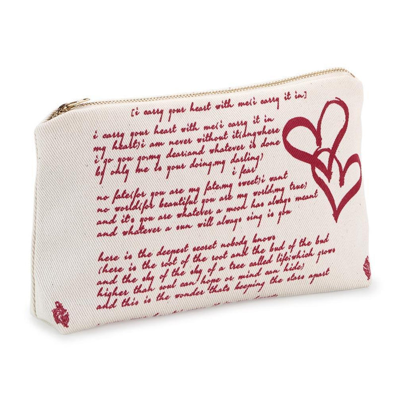 Book Zip Pouch - I Carry Your Heart