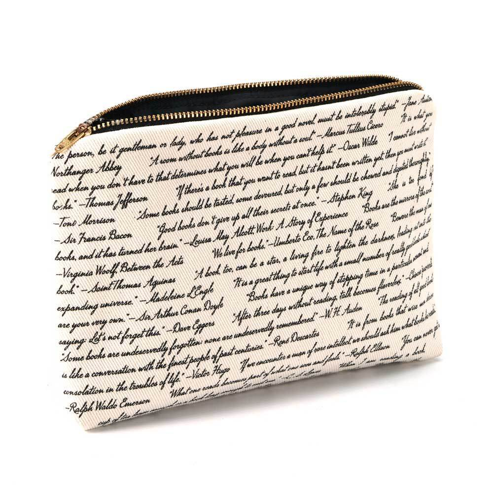 Book Zip Pouch - Commit To Lit