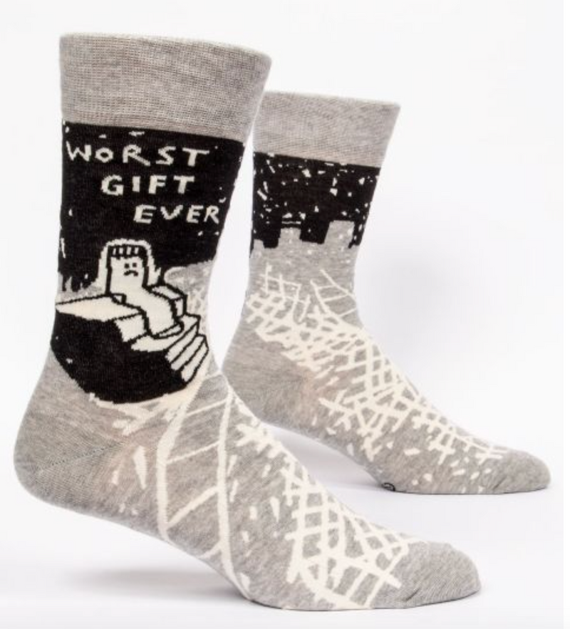 Blue Q Men's Crew Socks Worst Gift Ever