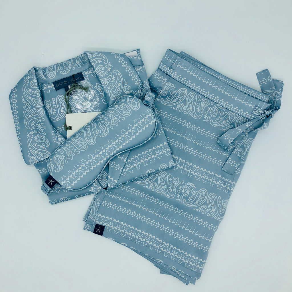 Barefoot Dreams Short PJ Set Chambray