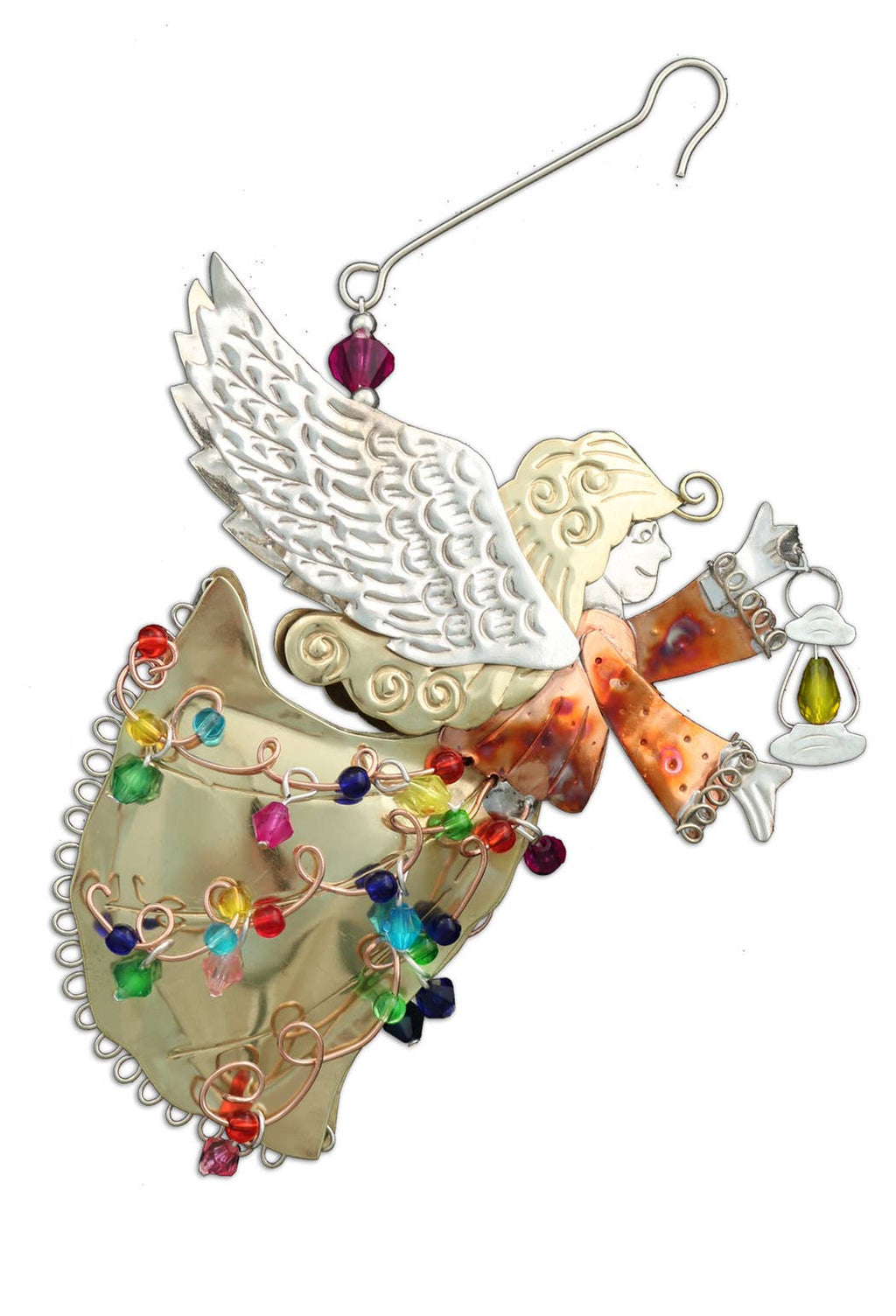 Guiding Light Angel -  Metal Ornament