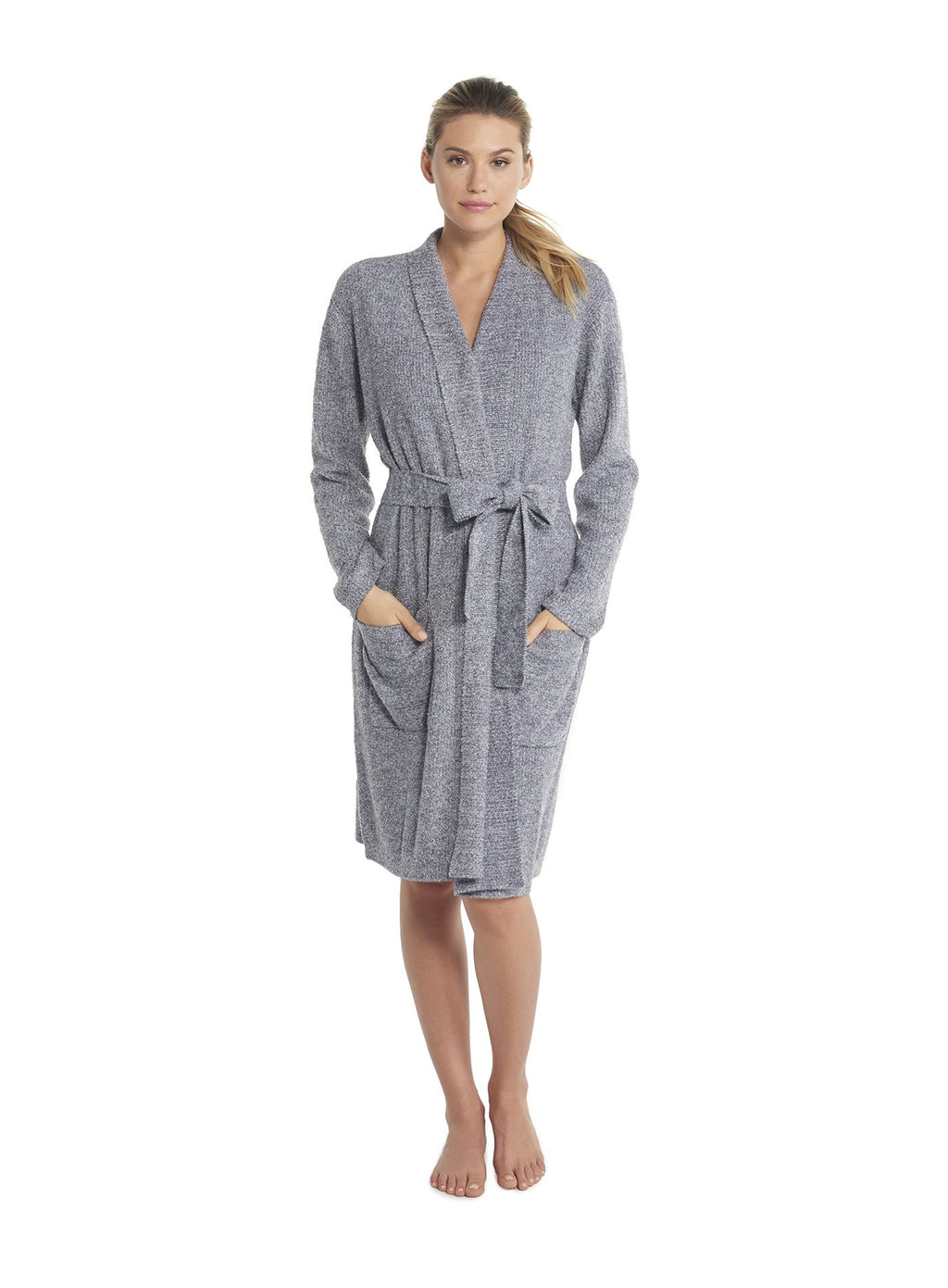Barefoot Dreams Ribbed Robe - Pacific Blue Pearl