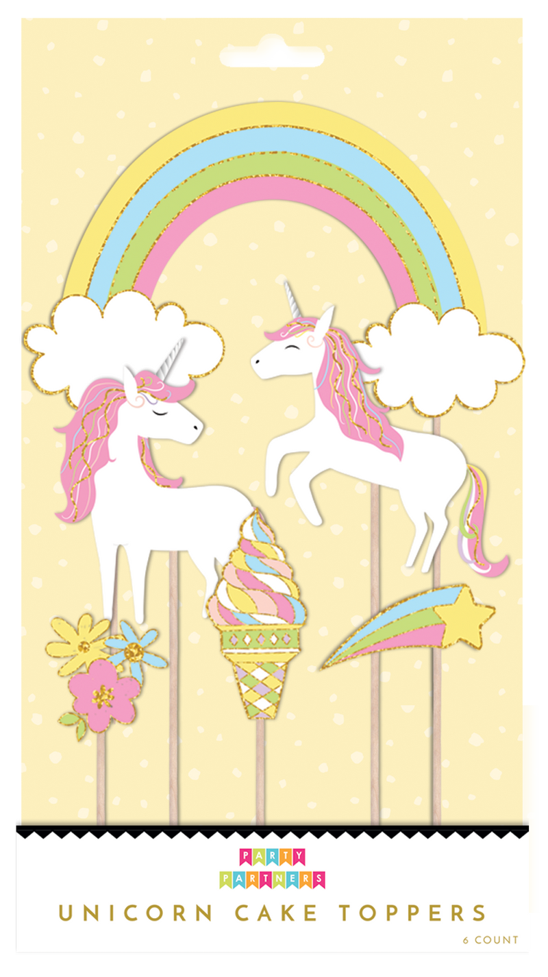 Party Partners - Unicorns Cake Toppers