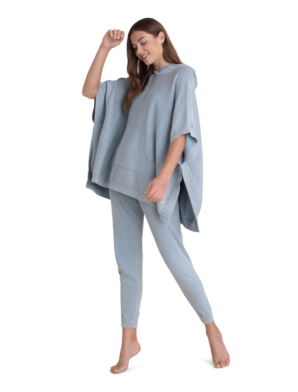 Barefoot Dreams Sunbleached Poncho - Washed Denim