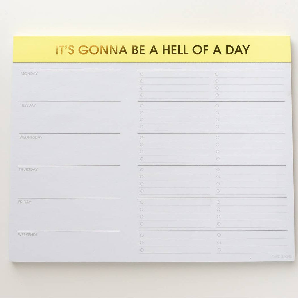 Chez Gagné - Gonna Be a Hell of a Day Planner Notepad