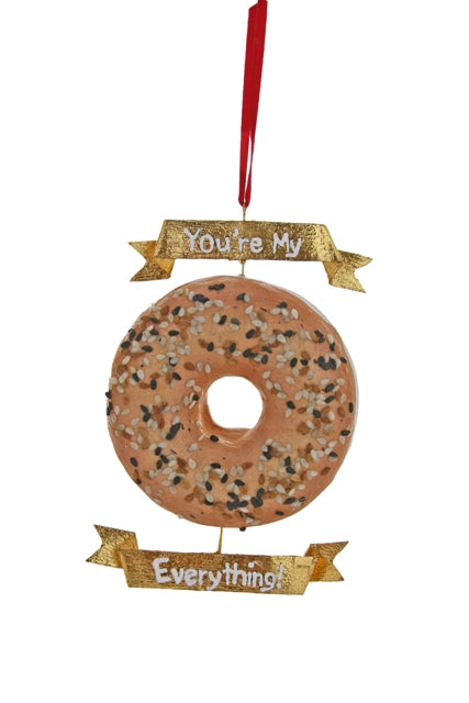 Cody Foster Ornament You're My Everyting Bagel