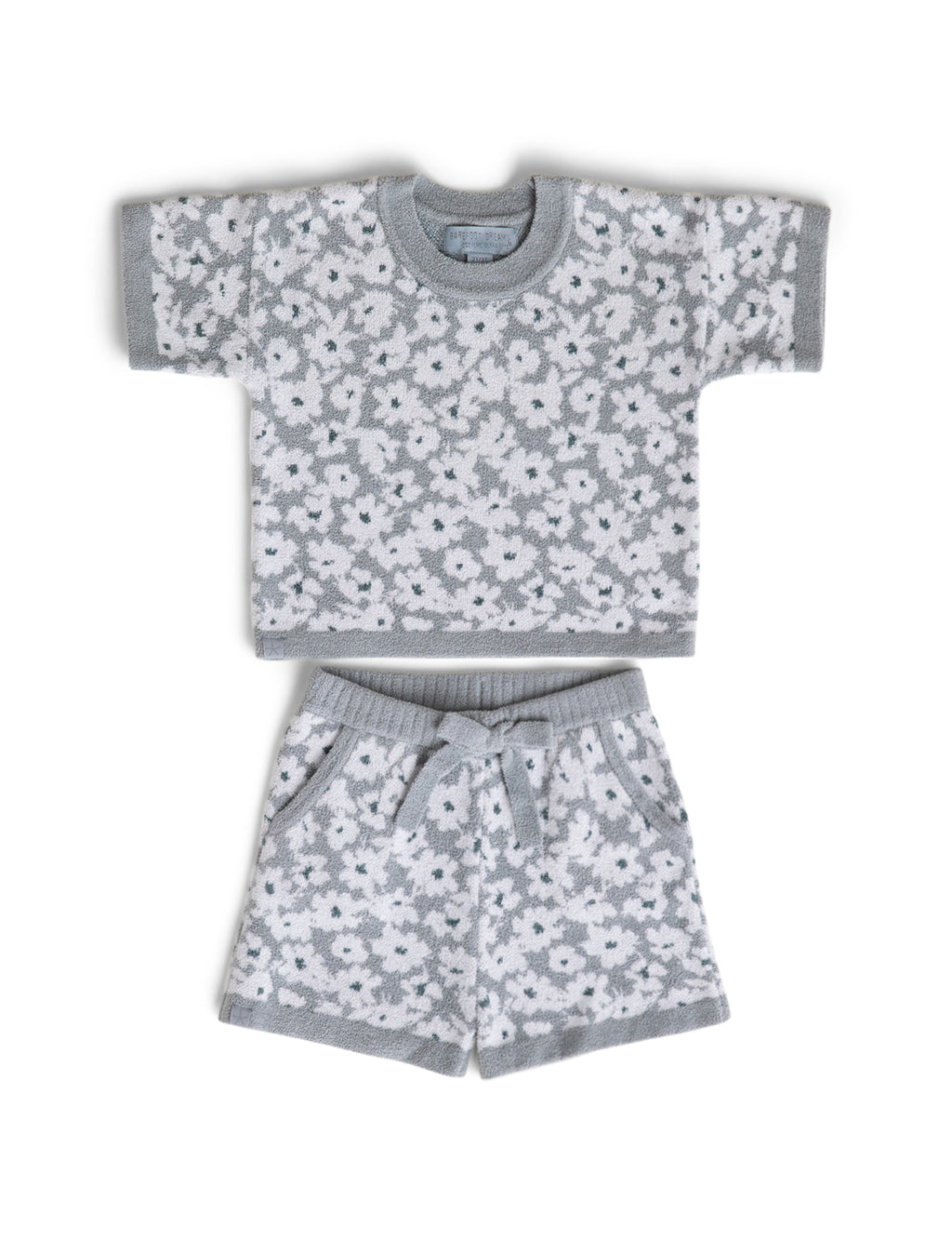 Barefoot Dreams CozyChic Ultra Lite Toddler Short Set - Waterfall Daffodil