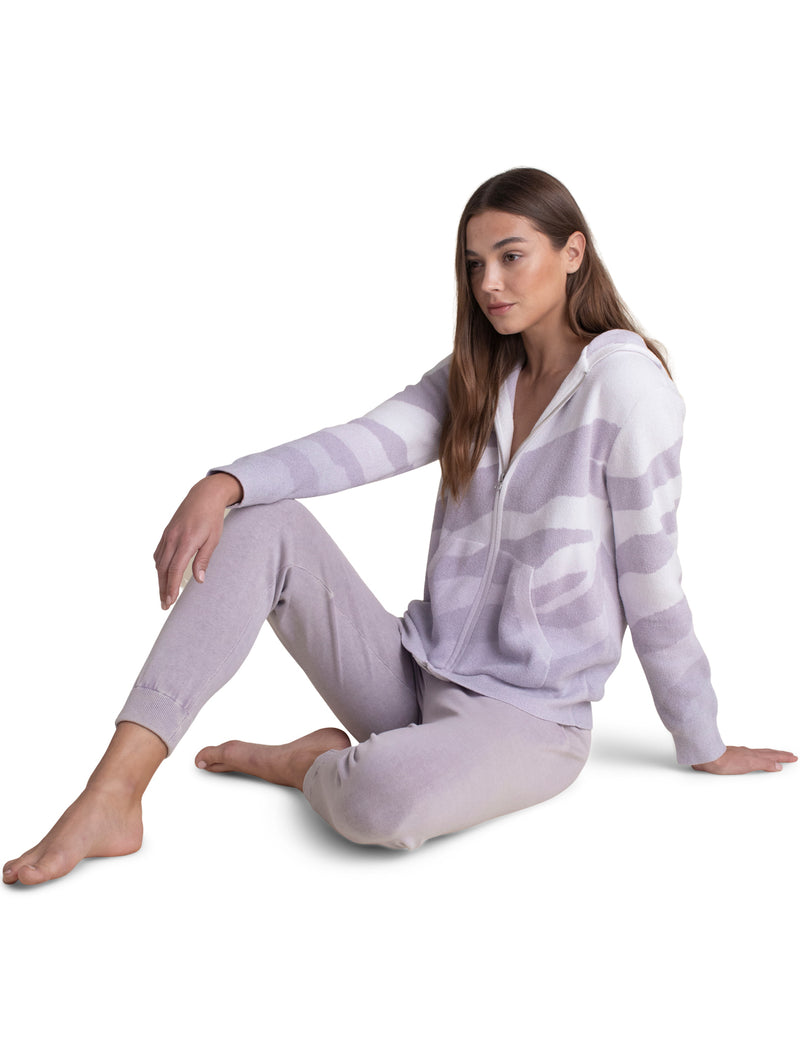 Barefoot Dreams Ocean Reef Zip Up Hoodie - Soft Violet
