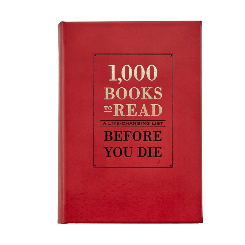1000 Books To Read Before You Die Leather Book