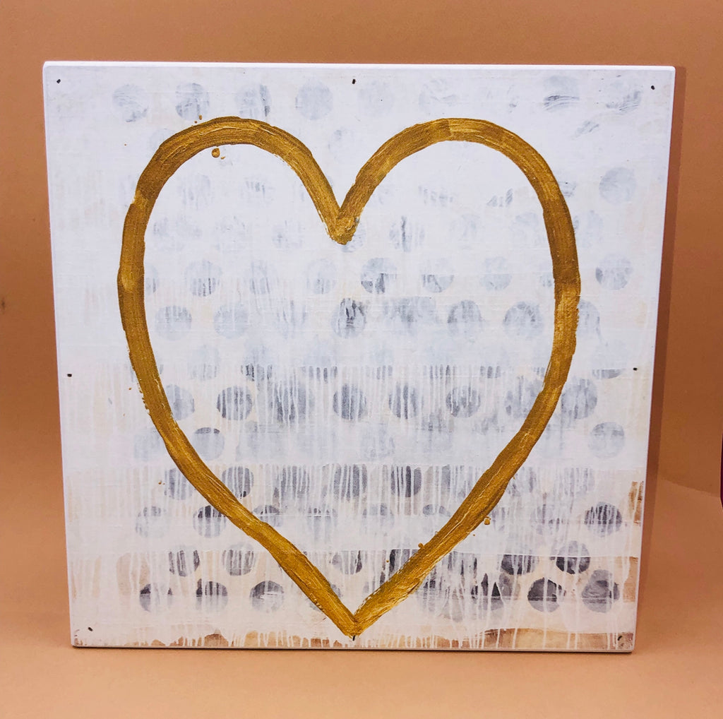 Wood Wall Art - Heart Of Gold