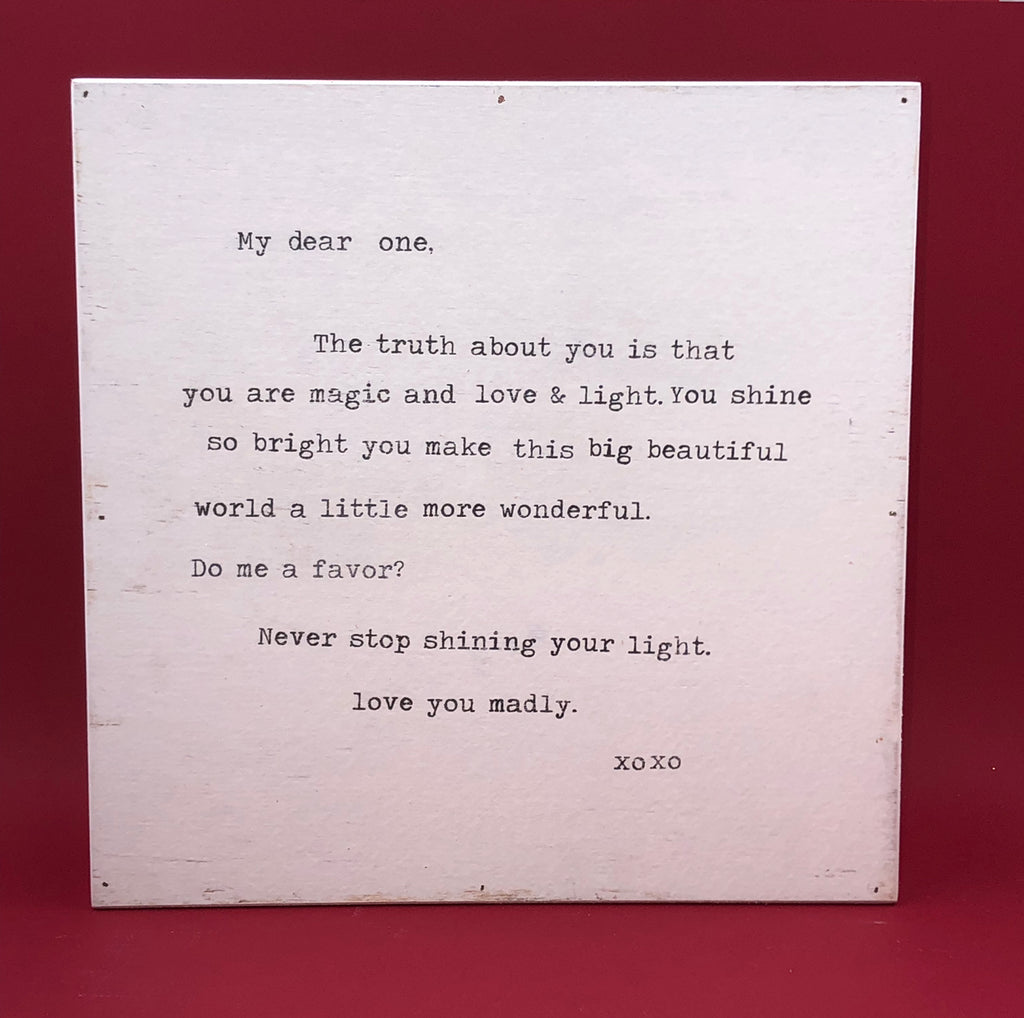 Wood Wall Art - My Dear One
