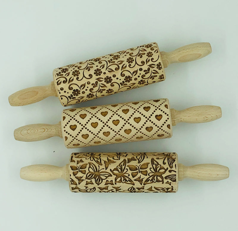 Embossed Rolling Pins - 4.5""