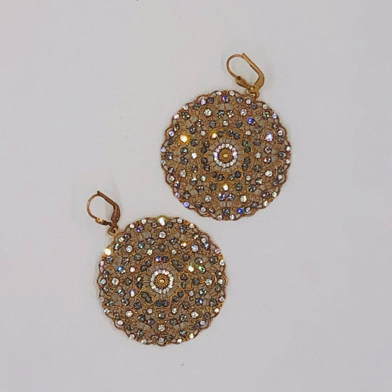 Filigree Crystal  Earrings
