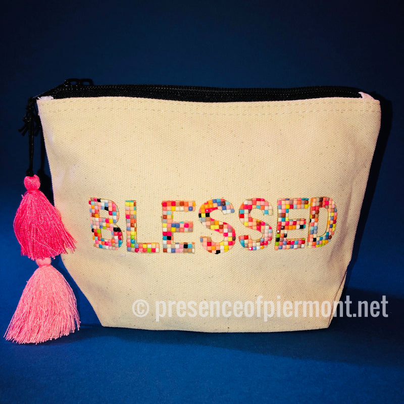 Confetti Cosmetic Beaded Pouch