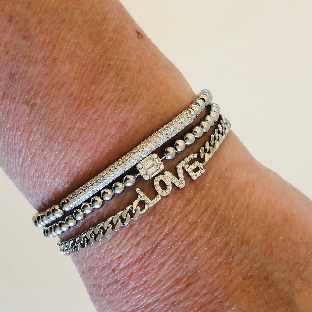 Tai Sterling Silver Stretch Bracelets