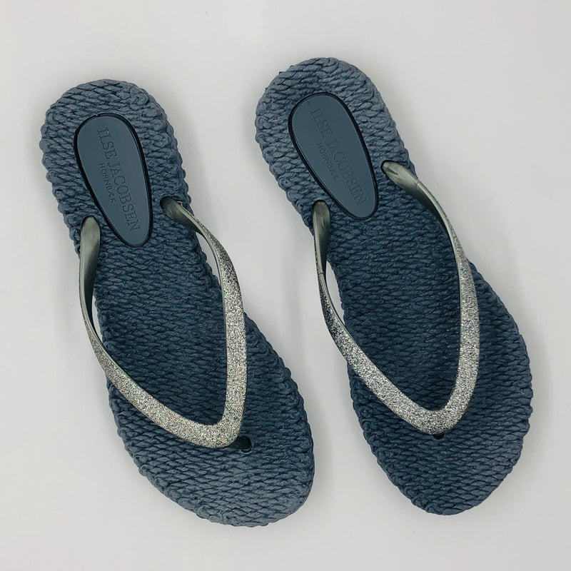 Ilse Jacobsen Sparkle Flip Flops - Blue/Grey