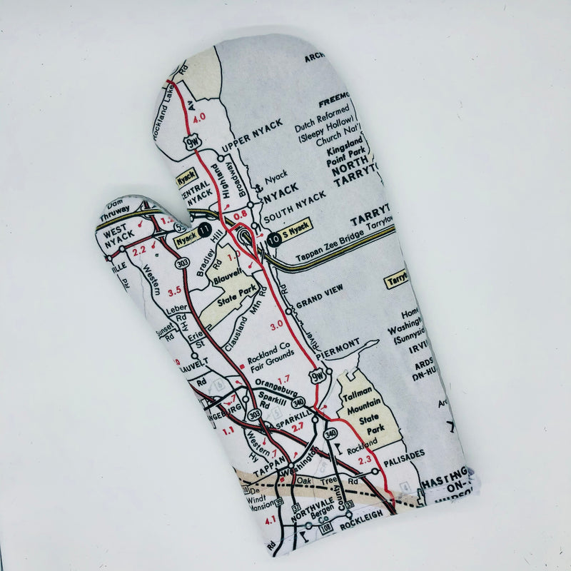 Map Oven Mitt - Piermont